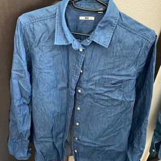 デニムシャツ ブルー ユニクロ M