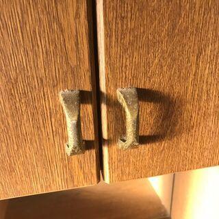 《市内送料無料》鏡付き棚 モイス キッチンカウンター 収納家具 ボード レンジ台 キャビネット ラック 台所収納  - 八千代市