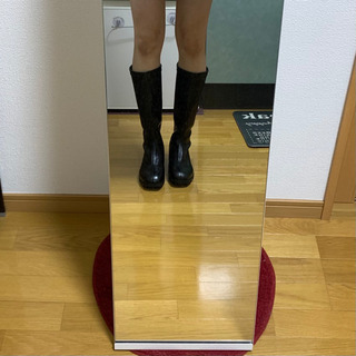 【ネット決済・配送可】ロングブーツ 25.5  黒 ブーツ
