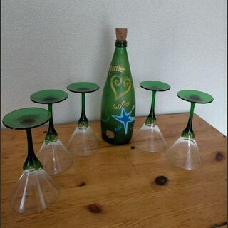 Perrier 2000年記念ボトル&グラスセット