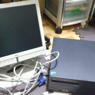 デスクトップPC、モニターセット