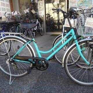 中古自転車1238 前後タイヤ新品! 26インチ 6段ギヤ…