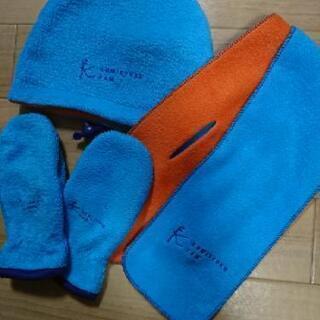 フリース帽子 マフラー 手袋セット