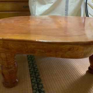 【ネット決済】天然欅(けやき)の座卓