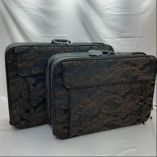 衣装ケース スーツケース  ペイズリー柄  2個組 セット…