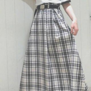 ☆w closet☆ダブルクローゼット  チェックロングスカート