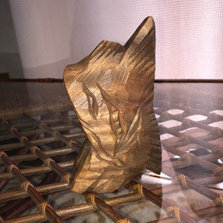 井波本木彫り アンティーク置き物 3つ