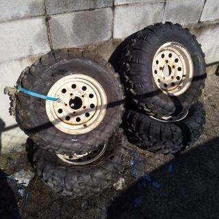 直接引取りのみ タイヤ ホイール ATV バギー