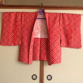 【新品未使用品】赤絞り羽織り