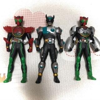 仮面ライダー バース オーズ 3体セット ソフビ フィギュア