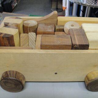 木製 車 積木 知育 玩具 台車 - おもちゃ