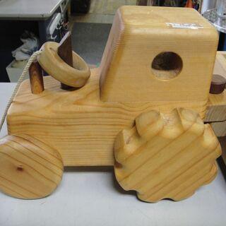木製 車 積木 知育 玩具 台車 - 売ります・あげます
