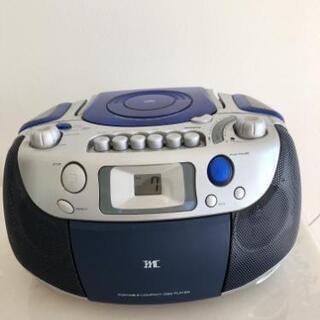 CD、ラジオ付きカセットプレイヤー