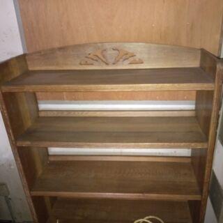 アンティーク 木製収納棚(金属釘使用無し)の画像