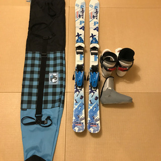 KAZAMA 116cm スキー&靴&ケースセット