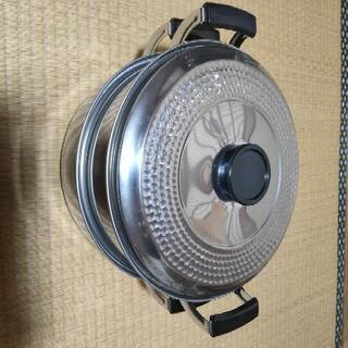 【ネット決済】超便利鍋!!!! 下で煮物、上で蒸し物