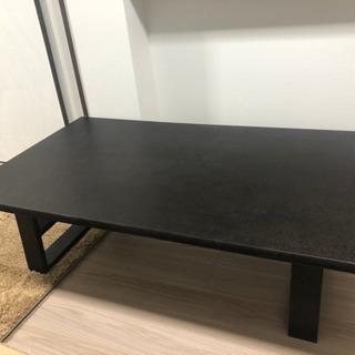 値下げ ニトリ 天然木ローテーブル 135-80-38