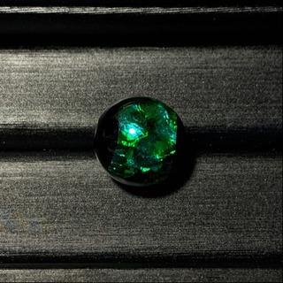 琉球ホタルガラス グリーン×ライトブルー(12mm玉)1粒売り