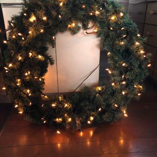 クリスマス リース イルミネーション 電球100個 屋外用…