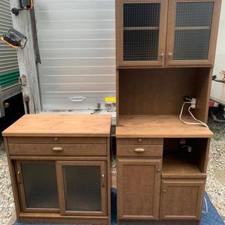 食器棚 キャビネット 2台セット