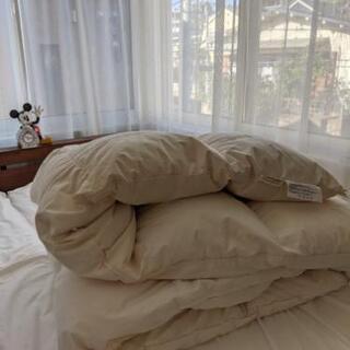 羽毛布団 セミダブルサイズの画像