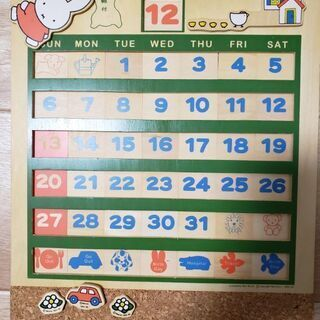 ミッフィー万年カレンダー、パズルの画像