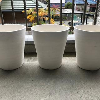 植木鉢 セラアート プラ鉢 8号サイズ 3個セット