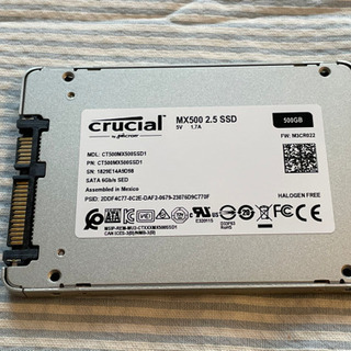 【中古】SSD 500GB (crucial MX500)