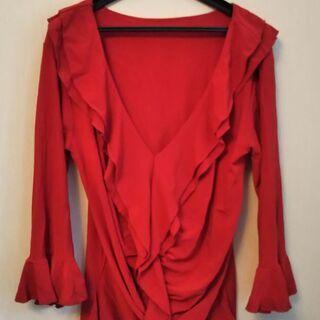 フラメンコ衣装 真っ赤 上着