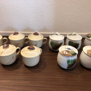 陶器の茶碗蒸しに使える蓋つき椀10個