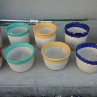 素焼き鉢9個の画像