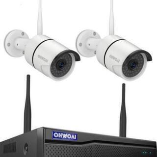 格安ワイヤレス防犯カメラセット2台1080P高画質IP67防水