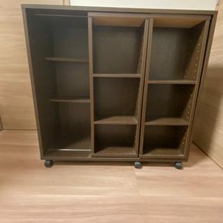 【良品】木製ブラウン本棚