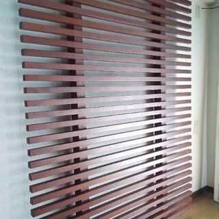木製 無垢材 パーテーション ラティス 格子 2枚セット