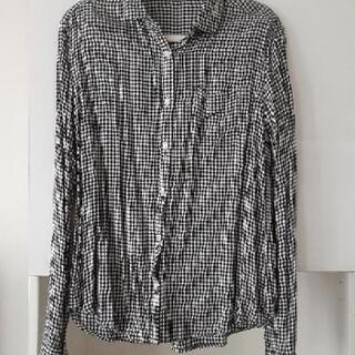 1回着 GUチェックシャツ Sサイズ