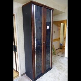 ガラス扉付き大型本棚 大容量 扉付き 美品‼️