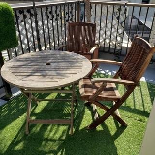 【ネット決済】ガーデンテーブルチェアーセット