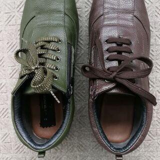 人工皮革製、靴