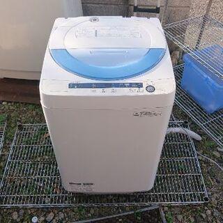 SHARP 全自動洗濯機 5.5kg ES-GE55P-A 2014年製 の画像