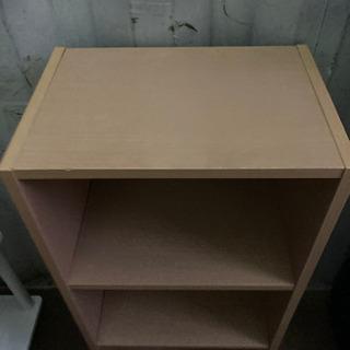 1124-203 カラーボックス 3段 ベージュ - 家具