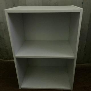 1124-204 カラーボックス 2段 白