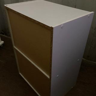 1124-204 カラーボックス 2段 白 − 石川県