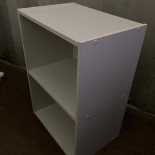 1124-204 カラーボックス 2段 白 - 家具