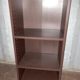 1124-205 カラーボックス 3段 ブラウン