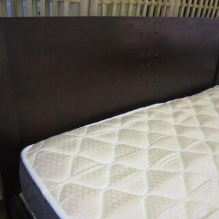 R082 セミダブルベッド 20cmスプリングマットレスセット 美品 - 家具
