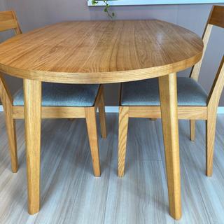 Francfranc(フランフラン)ダイニングテーブル&椅子2脚セット