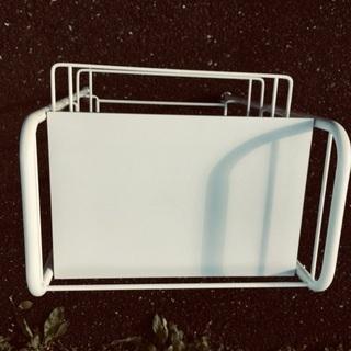 【ネット決済・配送可】スライド式ワゴン ホワイト キャスター付き収納