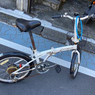ジャンク 折り畳み自転車 6速ギア