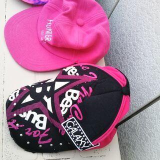 小学生~大人キャップ帽子(女子用サイズ大人~こどもでも)と大人女...