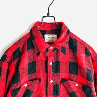 """""""vintage"""" buffalo plaid shirt"""